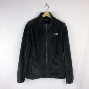 The North Face Osito Fuzzy Fleece Jacket In Black
